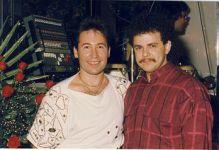С испанским певцом Джимми Богусом